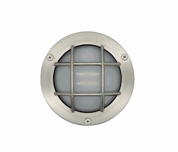 Bulkhead Porthole Mini Frosted - Satin Nickel