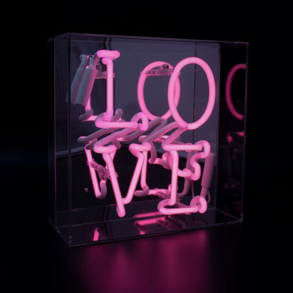 'Love' Acrylic Box Neon Light
