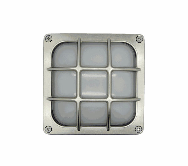 Bulkhead Square Frosted - Satin Nickel