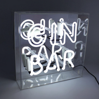 'GIN BAR' Acrylic Box Neon Light