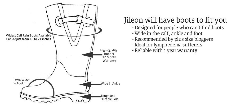 Jileon Wide Calf Rainboots