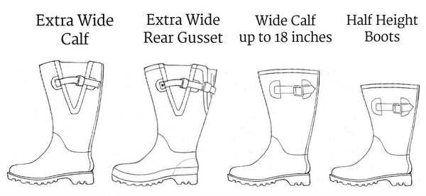 Wide Calf Rainboots Range