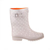 Half Height Rain Boots - Gray with White Spots - Wide Foot