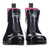 Ankle Height Rain Boots - Black Glossy - Wide Foot