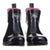 Ankle Height Rain Boots - Black Glossy - Wide Foot Widest Calf Rain Boots in US