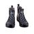 Ankle Height Rain Boots - Black with White Spots - Wide Foot Widest Calf Rain Boots in US