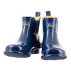 Ankle Height Rain Boots - Navy Blue Gloss - Wide Foot