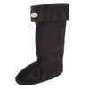 Black / Medium (7-9) Fleece Rain Boot Liners to Warm your Feet Widest Calf Rain Boots in US
