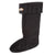 Black / Small (5-7) Fleece Rain Boot Liners Widest Calf Rain Boots in US