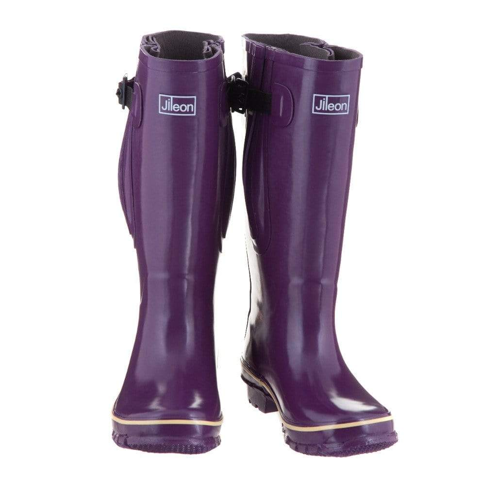 Extra Wide Calf Women's Rain Boots - Purple - Up to 23 Inch Calf Widest Calf Rain Boots in US