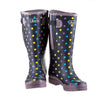Extra Wide Calf Womens' Rain Boots - Spotty - Up to 23 Inch Calf