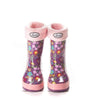 Fleecy Rain Boot Liners for Boys and Girls in Blue and Pink