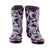 Half Height Rain Boots - Purple Butterflies - Wide Foot Widest Calf Rain Boots in US