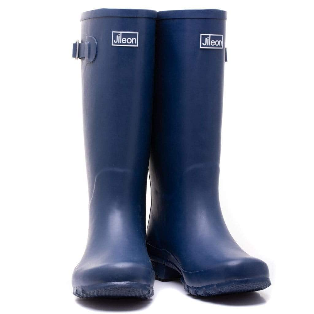 Wide Calf Rain Boots - Up to 18 inch calf - Navy Blue Widest Calf Rain Boots in US