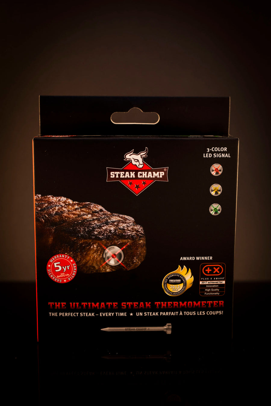 Steak Camp Thermometer 3 Colour - MySteakShop.de
