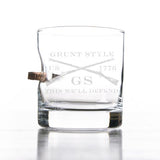 GS Logo Bullet Rocks Glass