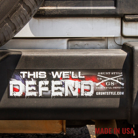 Defend Bumper Sticker