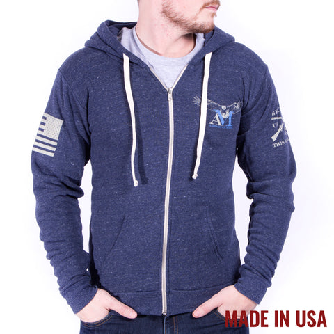 AM Eagle Full Zip - Tri Denim Navy