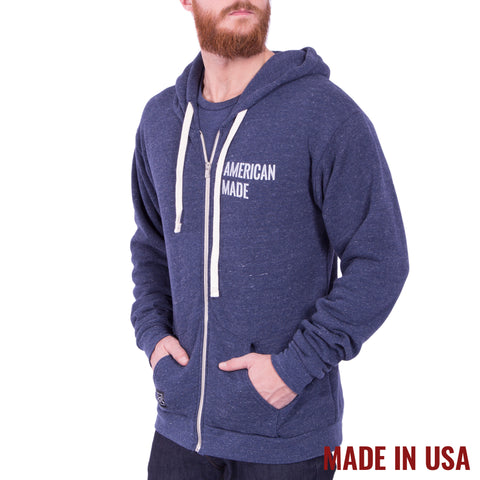 American Made Full Zip - Tri Denim Navy