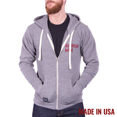 American Made Full Zip - Tri Vintage Grey