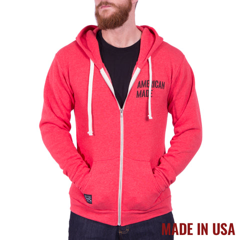 American Made Full Zip - Tri Red
