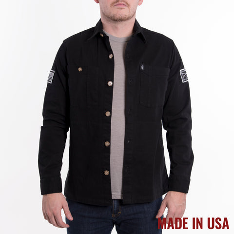 Action Shirt Jacket - Black