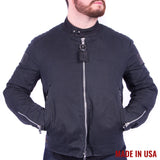 Men's Vanson Waxed Canvas Biker Jacket