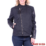 Women's Vanson Waxed Canvas Biker Jacket