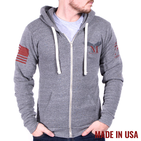 AM Eagle Full Zip - Tri Vintage Grey