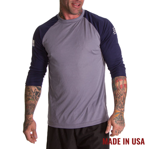 Men's Reflex Raglan - Steel & Navy