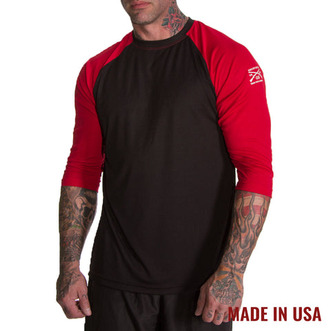Men's Reflex Raglan - Red & Black