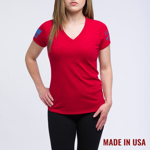 Ladies Red Yoga Shirt