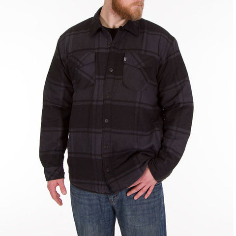 Lined Black Flannel