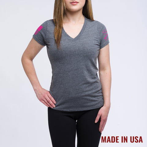 Ladies Grey Yoga Shirt