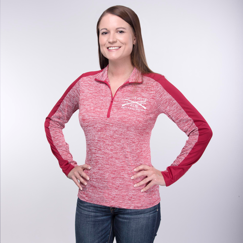 Ladies Challenger 1/4 Zip - Red