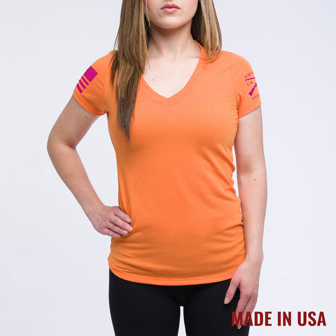 Ladies Orange Yoga Shirt