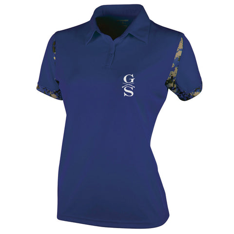 Ladies VGA Polo - Navy - Front Phantom