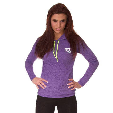 Ladies Athletic Lightweight Hoodie - Front