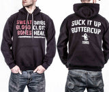 ASMDSS - Suck It Up Hoodie - Front and Back