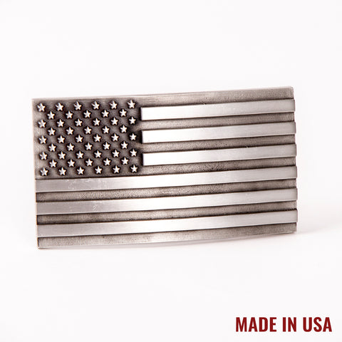 American Flag Pewter Buckle