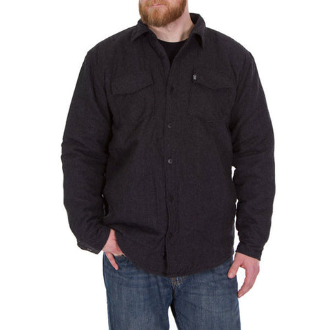 Lined Charcoal Flannel - Front