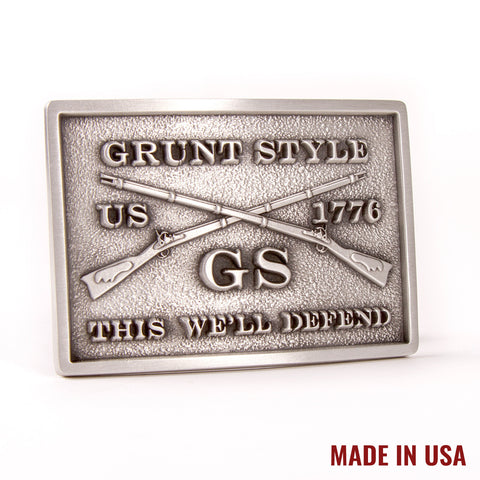 Grunt Style Pewter Buckle
