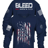 Enlisted Nine - Bleed Red, White, and Blue Long Sleeve