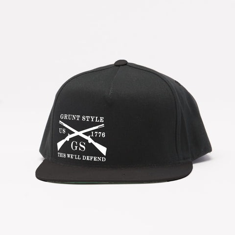 Black Flat Bill Hat