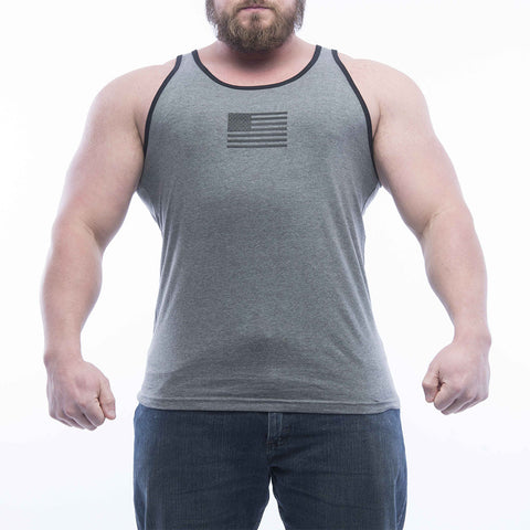 Basic Tank - Dark Heather/Black