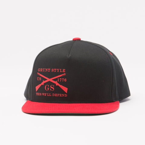 Black & Red Flat Bill Hat