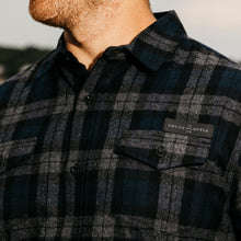 Load image into Gallery viewer, Grunt Style Navy Plaid Flannel