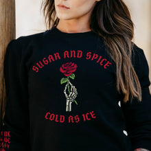 Load image into Gallery viewer, Women's Sugar and Spice Terry Crew Sweatshirt