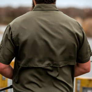 Grunt Style Short Sleeve Fishing Shirt - Olive