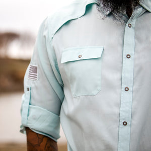Grunt Style Long Sleeve Fishing Shirt - Seafoam